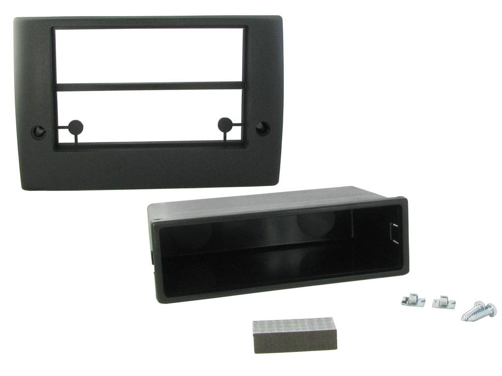 CT23FT17 FIAT DUCATO X250 2011 to 2014 BLACK DOUBLE DIN FASCIA ADAPTER PANEL