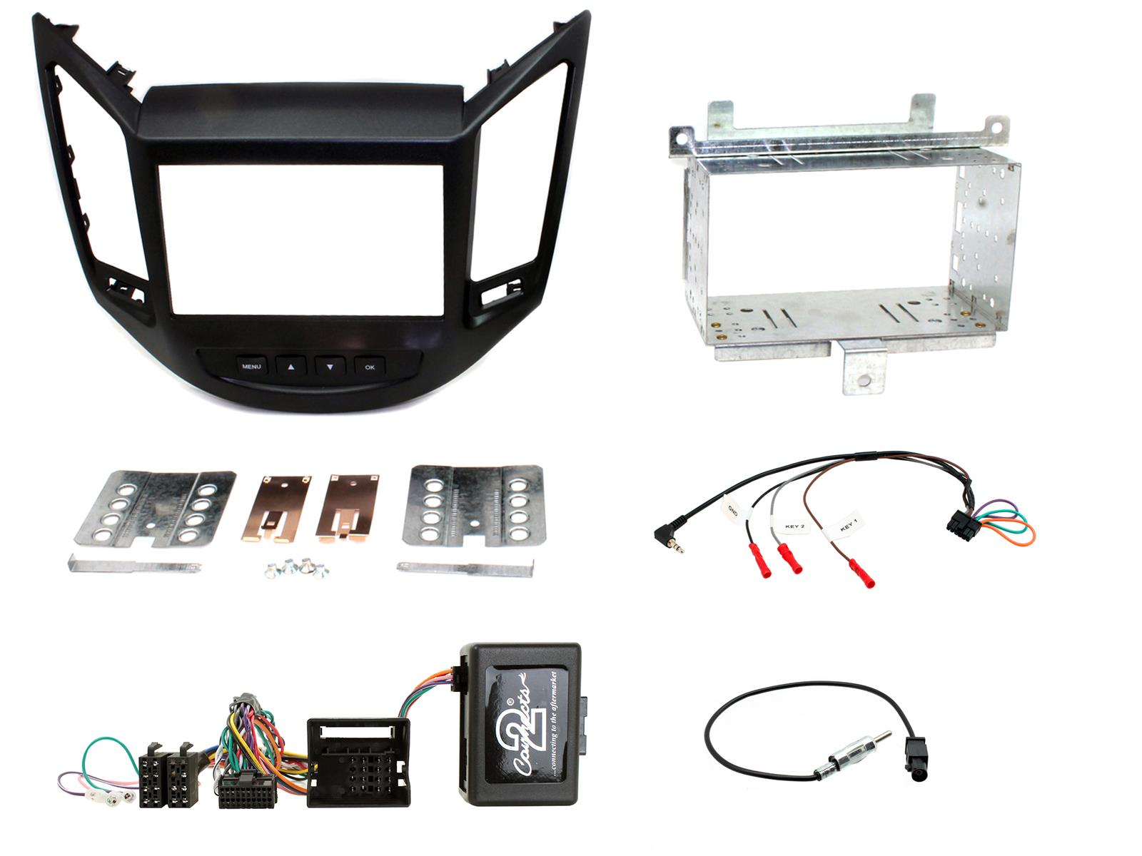 Connects2 CTKCV03 Chevrolet Beat 2010-12 Complete Double Din Fascia Fitting Kit