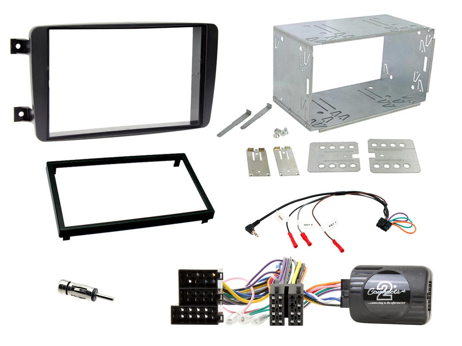 Connects 2 ctkmb 12 Mercedes Clase a 04-12 doble DIN Kit de montaje completo