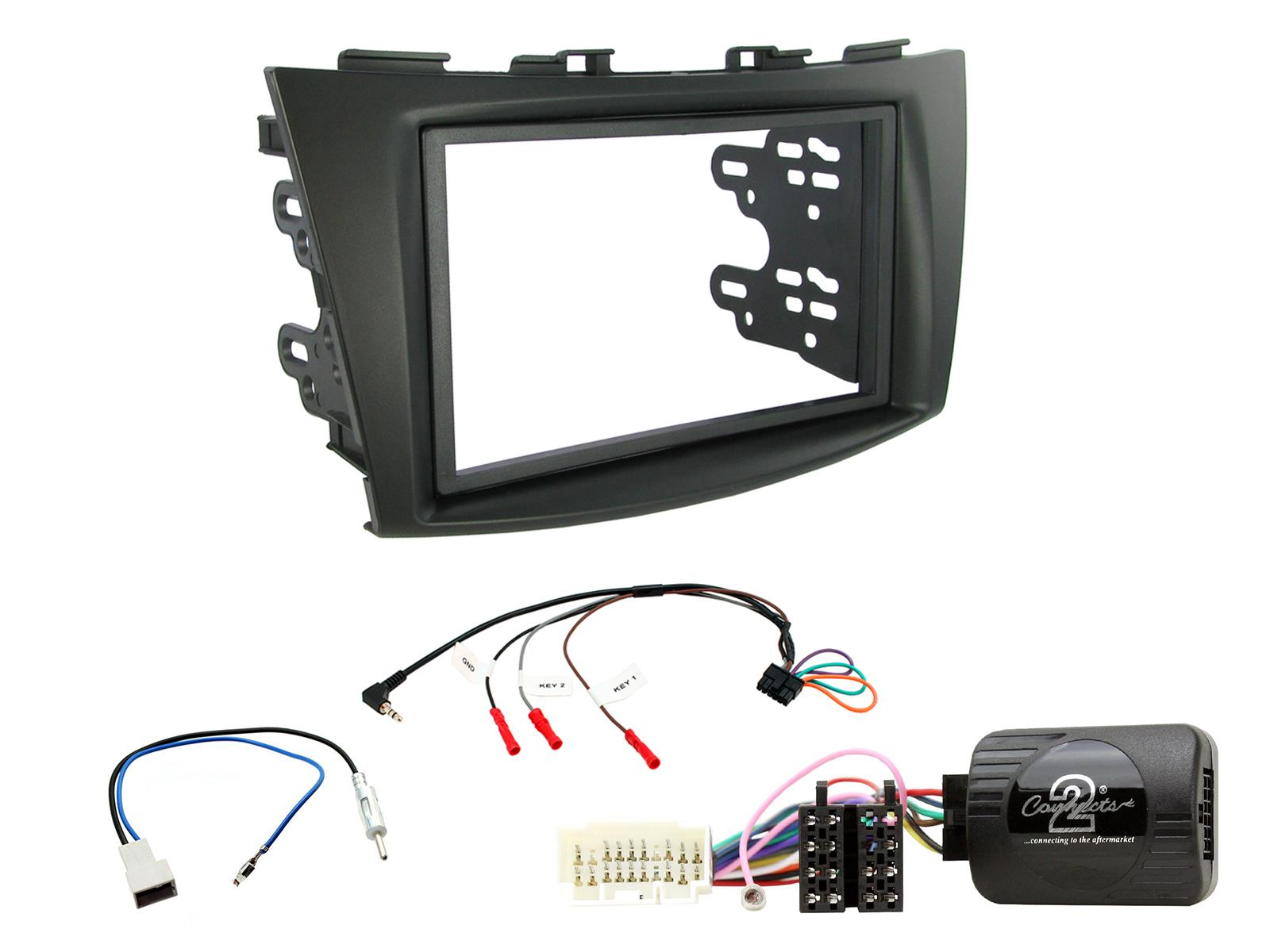 Connects2 CTKSZ01 Suzuki Grand Vitara 2005-2011 Double Din Stereo Fitting Kit