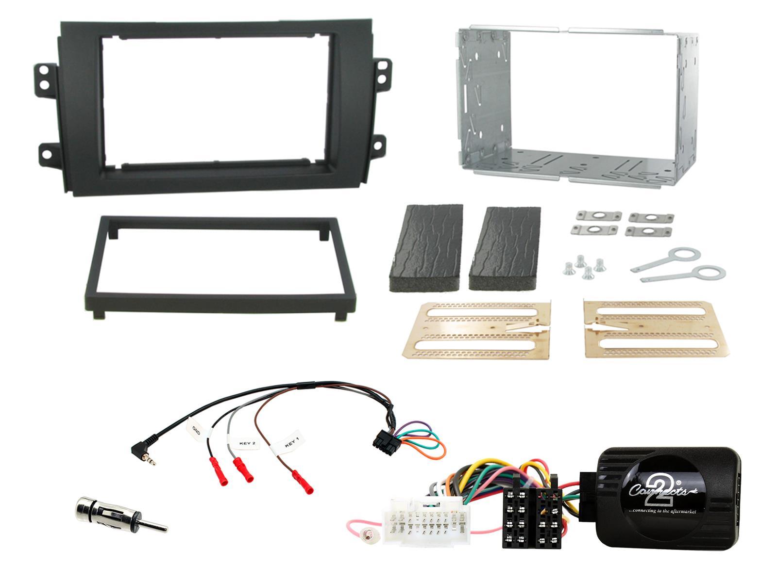 Connects2 CTKSZ06 Suzuki SX4 S-Cross 2013/> Black Double DIN Radio Fitting Kit