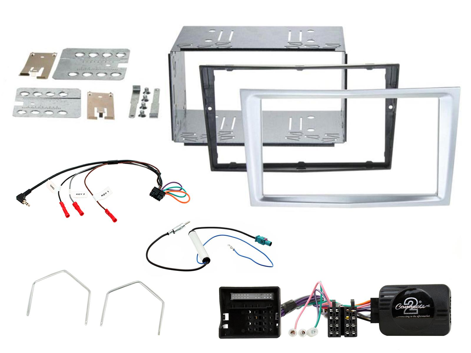 CONNECTS2 CORSA D 06 Double Din Stereo Facia Fitting Kit CHROME
