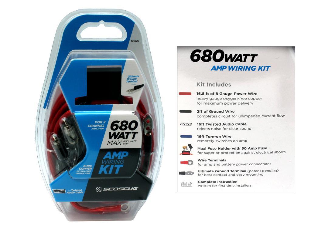 scosche 680 watt wiring kit  scosche  get free image about